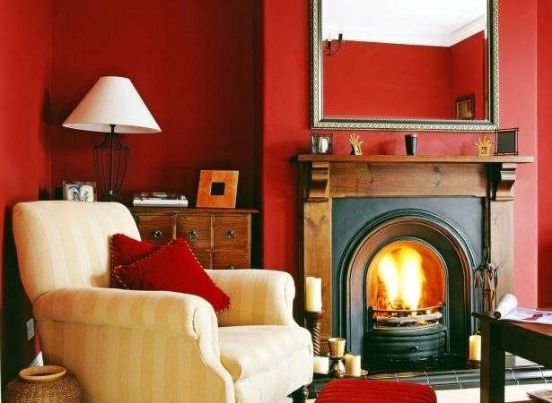 Red Cream Living Room Ideas
