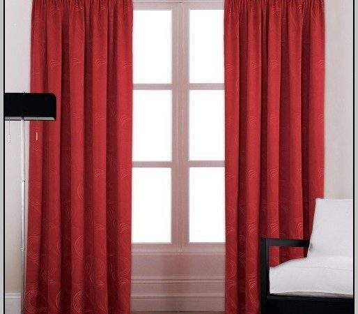 Red Curtains Living Room Home Design Ideas