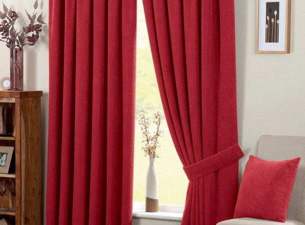 Red Curtains Living Room Peenmedia