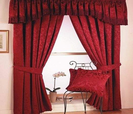 Red Curtains Window Treatments Interiors Living