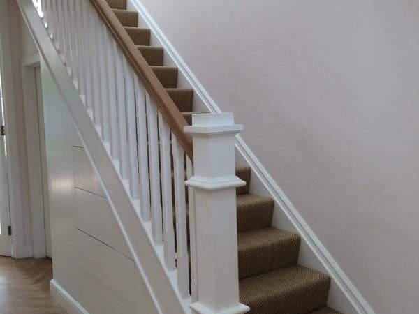 Red Deal Stairs Painted White Kilgallon