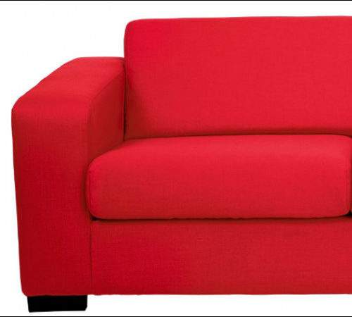 Red Fabric Sofa Dfs Bed Suite Tub Chairs