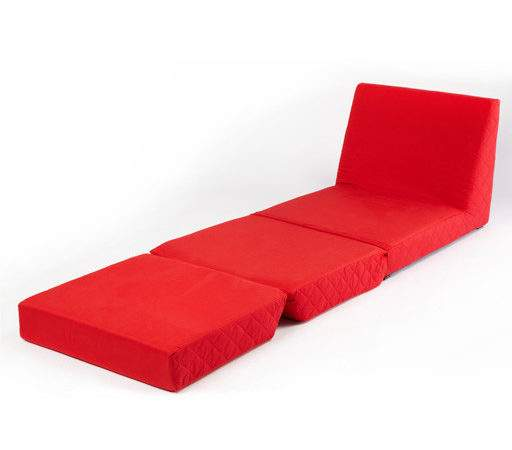 Red Folding Bed Single Chair Seat Sofa Fold Out