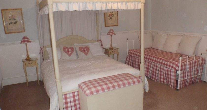 Red Four Poster Room Old Parsonage