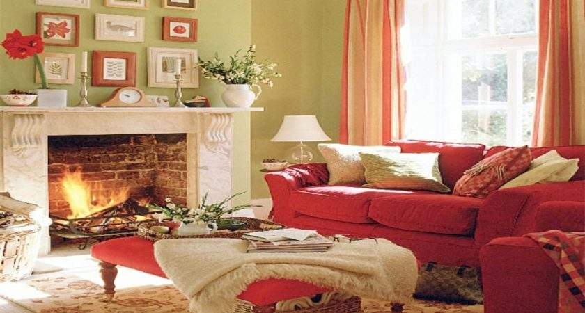 Red Green Living Room Home Design