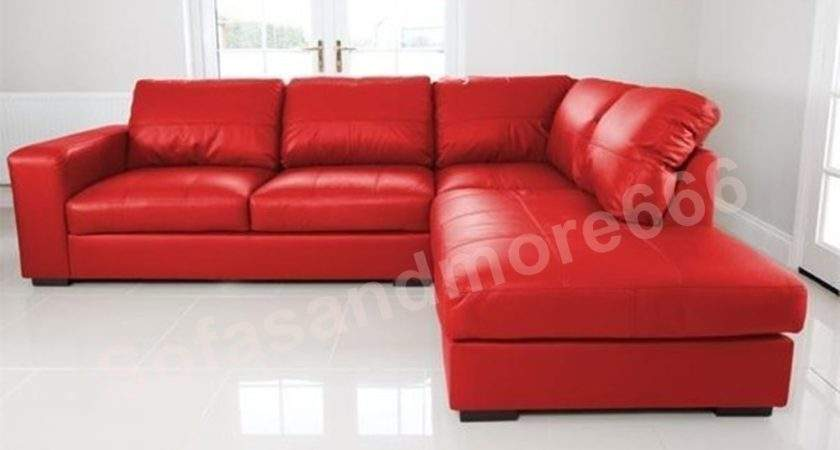 Red Leather Corner Sofa Wall Decal