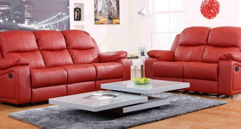 Red Leather Recliner Sofa Brokeasshome
