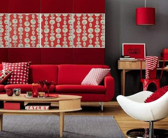 Red Living Room Ornaments