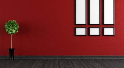 Red Walls Room Interior Home Decoration