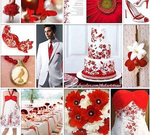 Red White Wedding Color Scheme Inspiration Board