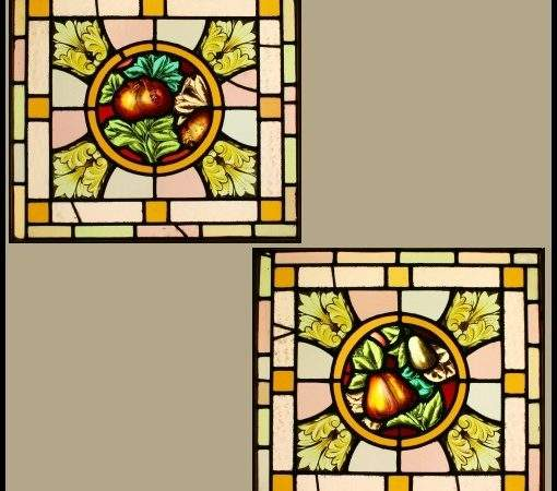 Ref Vic Victorian Stained Glass Windows Hand