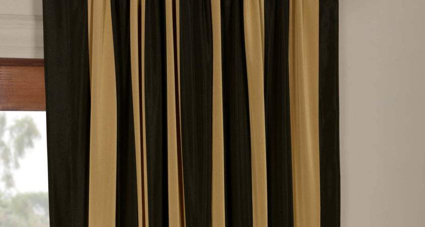 Regency Faux Silk Taffeta Stripe Curtains Drapes