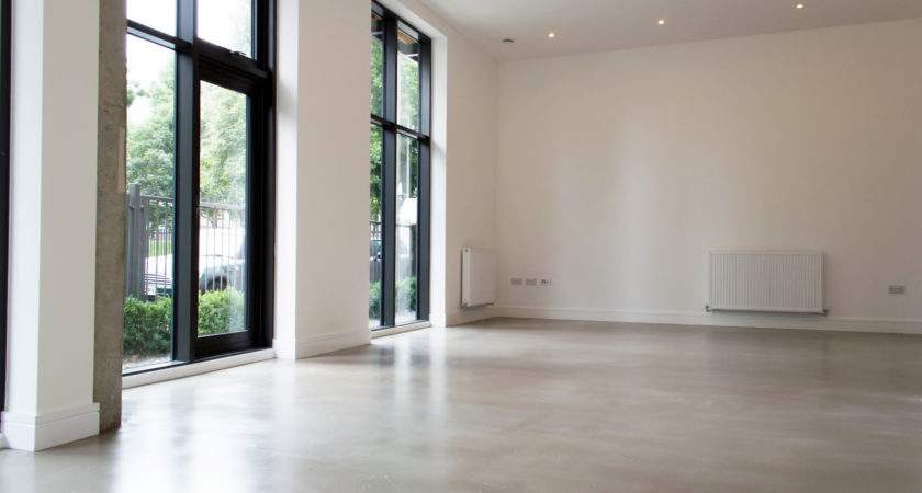 Residential Polished Concrete Flooring Poured Resin