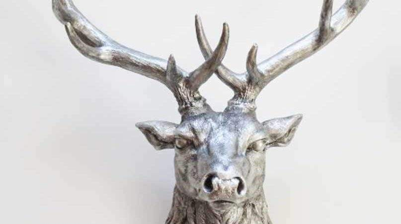 Resin Wall Art Stags Head