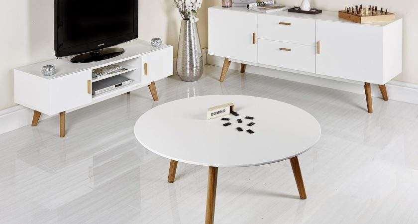 Retro White Coffee Table Home Design