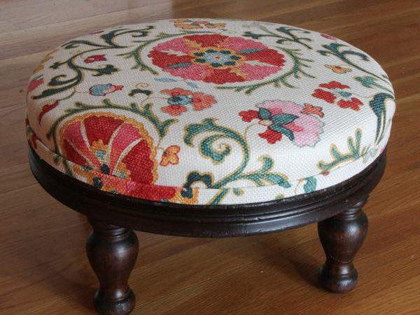 Reupholster Very Old Footstool