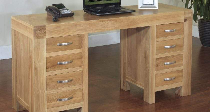 Rivermead Solid Modern Oak Furniture Large Office