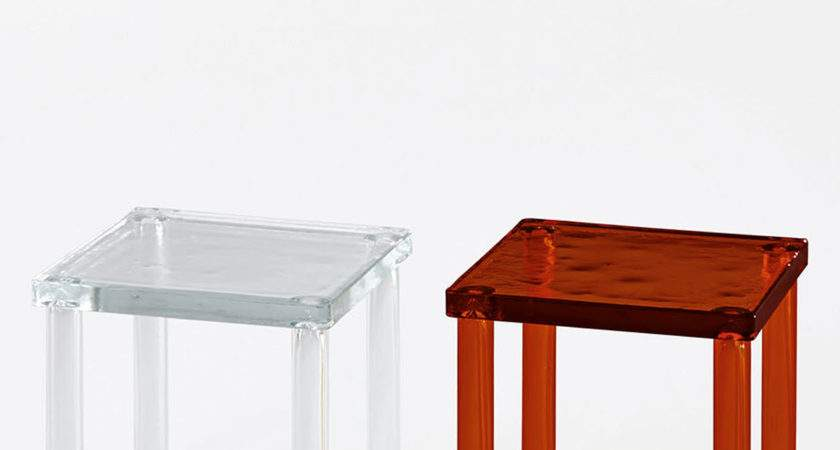 Ronan Erwan Bouroullec Small Coloured Glass Side Table