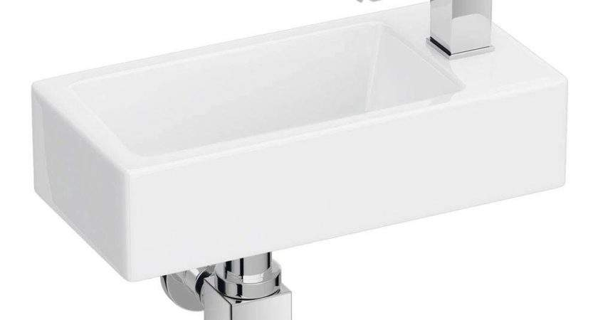Rondo Wall Hung Small Cloakroom Basin Now Victorian