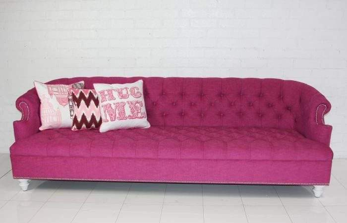 Roomservicestore Bel Air Hot Pink Tufted Sofa