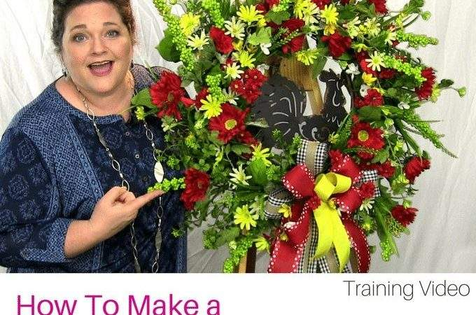 Rooster Wreath Tutorial Southern Charm Wreaths