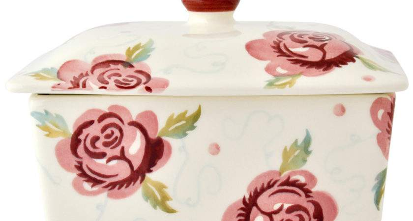 Rose Bee Seconds Butter Dish Emma