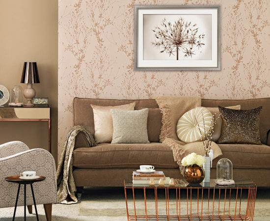 Rose Gold Living Room Decorating Ideas