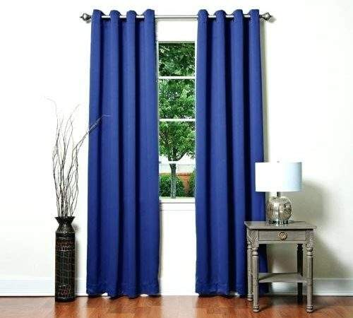 Royal Blue Blackout Curtains Teawing