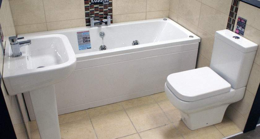 Ruby Square Mini Whirlpool Bath Bathroom Suite Special
