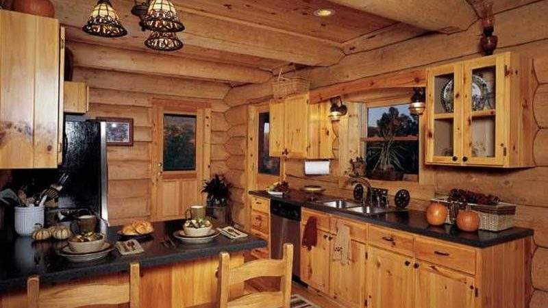 Rustic Kitchen Designs Unfinished Pine