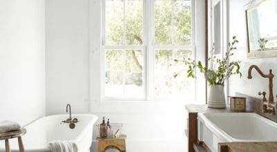 Salvaged Wood Washstand Cottage Bathroom Country Living