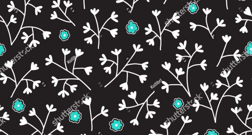 Seamless Floral Pattern Small Flowers Endless Lager Vektor