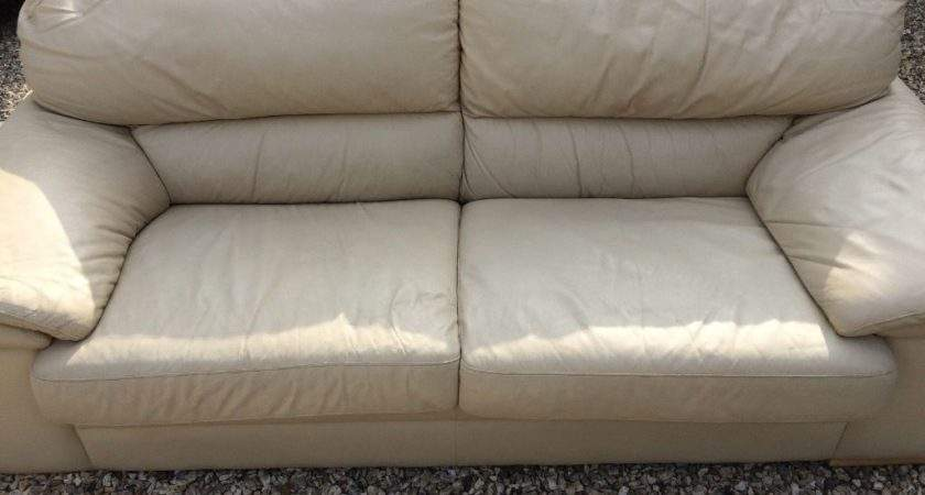 Seater Leather Sofa Cream Buy Sale Trade Ads