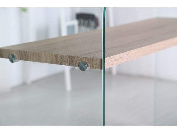 Sen Furniture Savoy Curved Glass Console Table