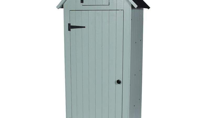 Sentry Garden Store Shed Putty Grey Homebase