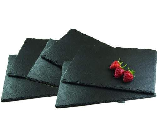 Set Rectangle Natural Slate Placemats Cheeseboard