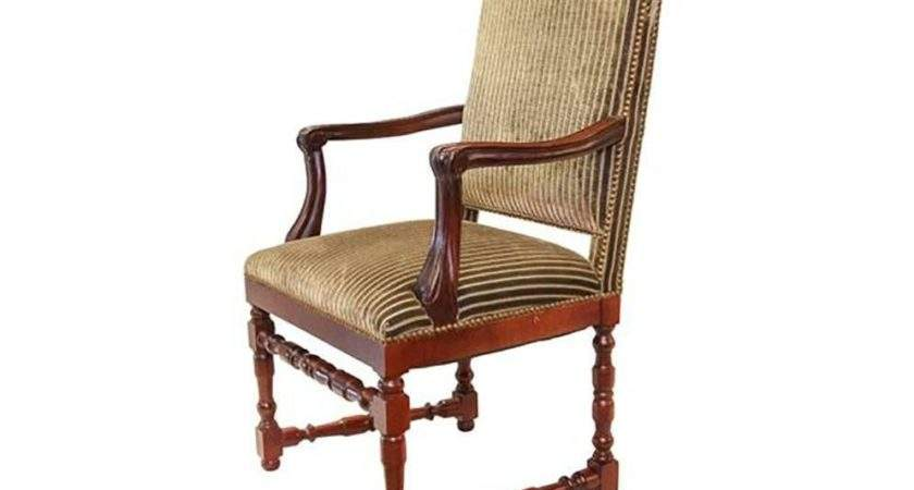 Set Striped Velvet Upholstery Dining Room Chairs