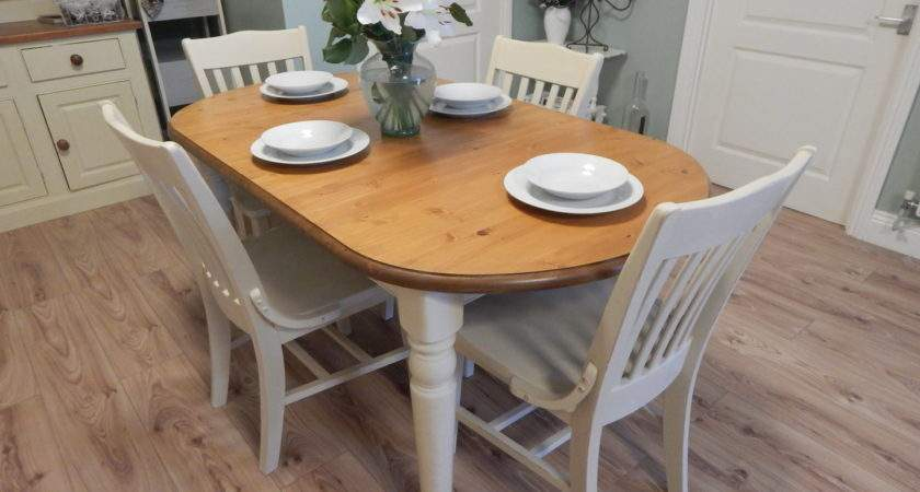 Shabby Chic Ducal Pine Extending Dining Table Chairs