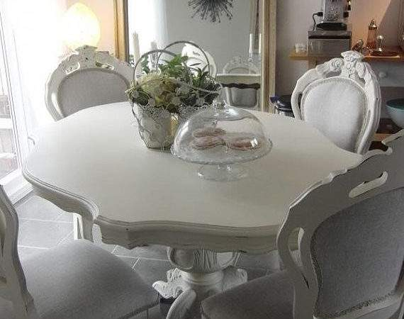 Shabby Chic French Style Dining Table Chairs