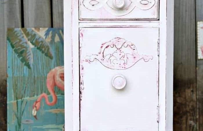 Shabby Chic Pink White Paint Layers Furniture