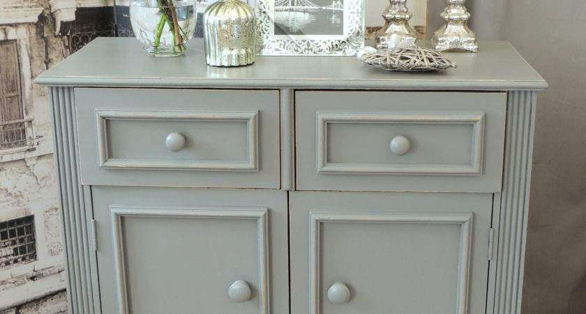 Shabby Chic Solid Pine Cabinet Sideboard Farrow Ball