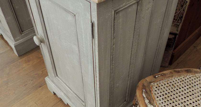 Shabby Chic Solid Pine Desk Three Drawers Eclectivo