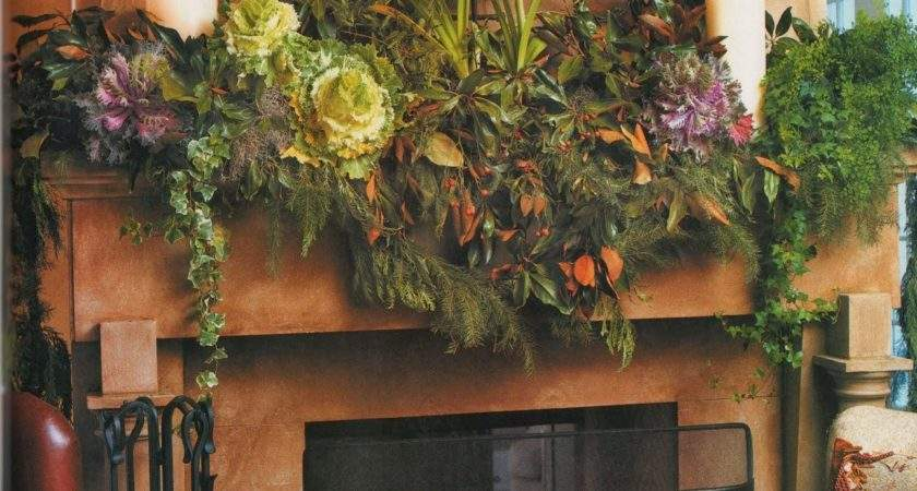 Shabby Love Inspiring Christmas Fireplace Mantel