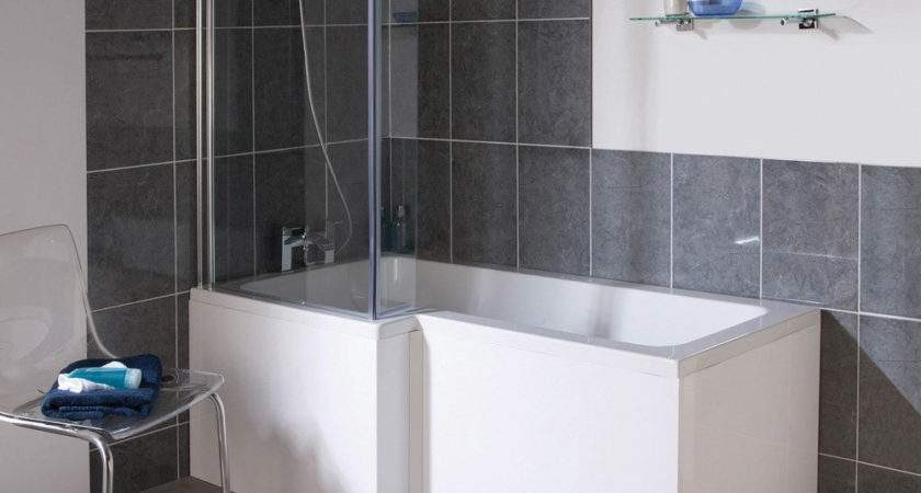 Shape Square Shower Bath Screen White Left