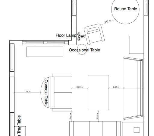 Shaped Living Room Dining Furniture Placement