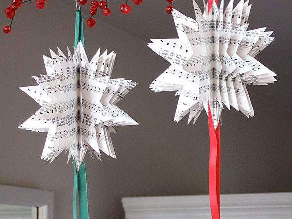 Sheet Music Christmas Tree Ornaments Crafty Nest