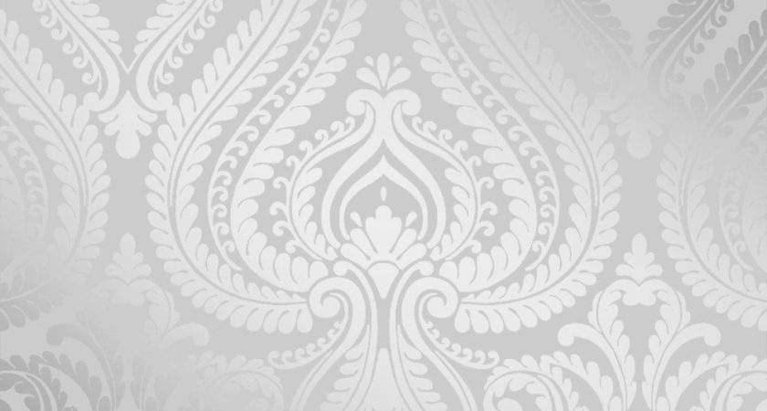 Shimmer Damask Soft Grey Silver Ilw
