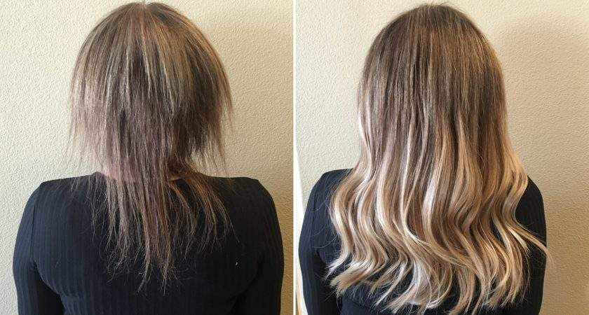 Shocking Hair Extensions Before After Have