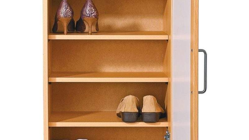 Shoe Storage Cabinet Oak Effect