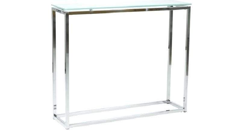 Silver Metal Glass Console Table Sandor
